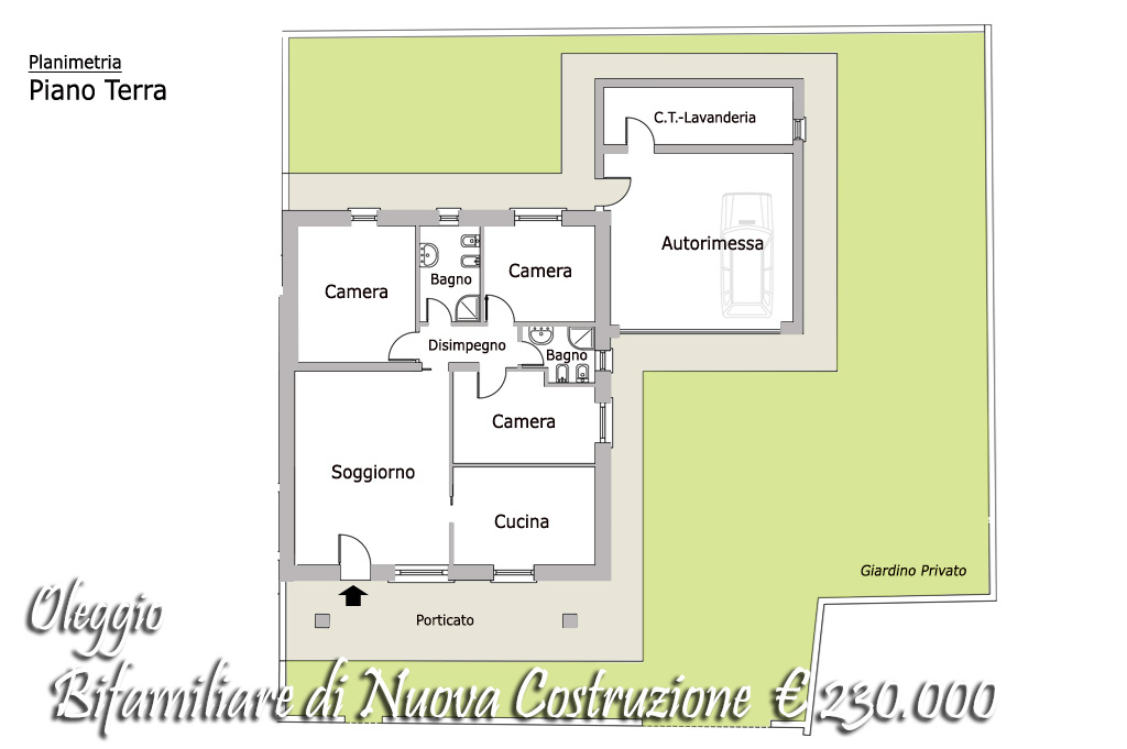 Villa bifamiliare Oleggio